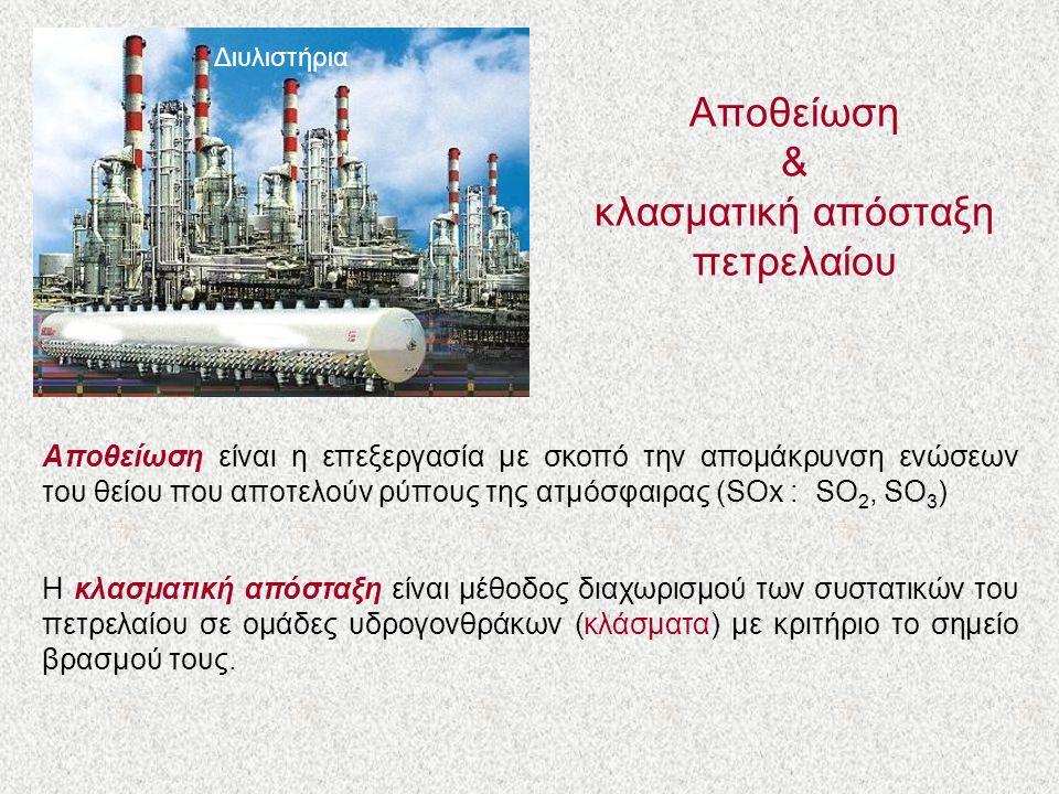 Αποθείωση & κλασματική απόσταξη πετρελαίου