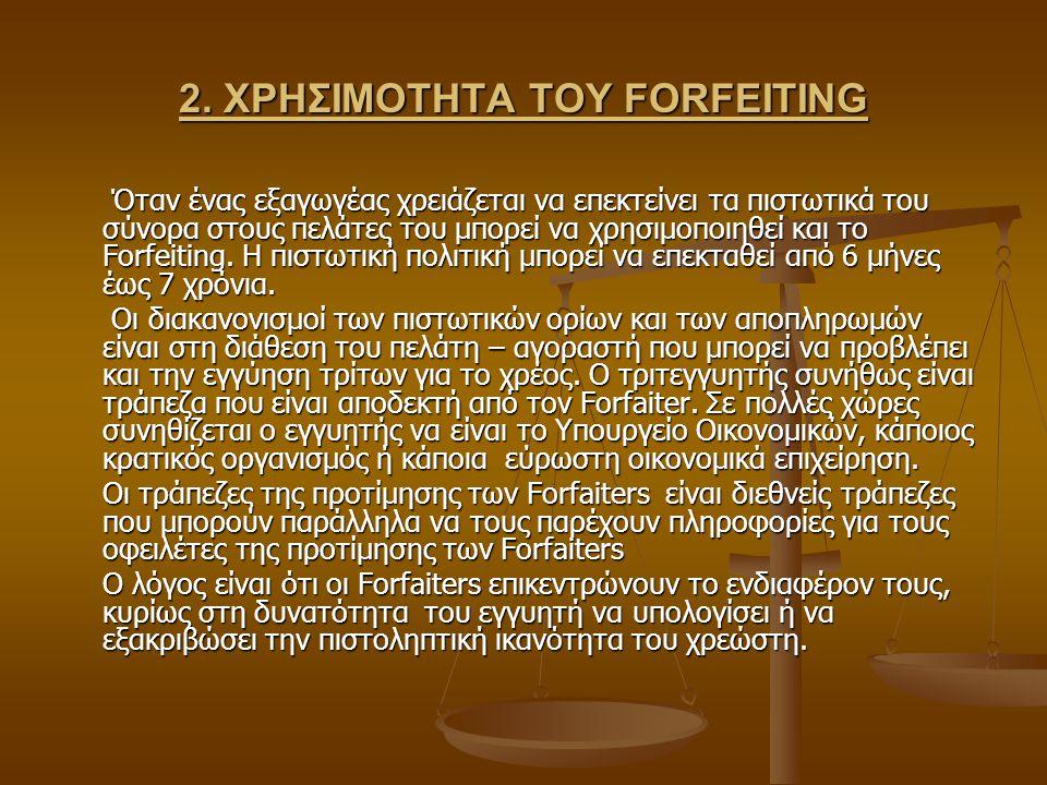 2. ΧΡΗΣΙΜΟΤΗΤΑ ΤΟΥ FORFEITING