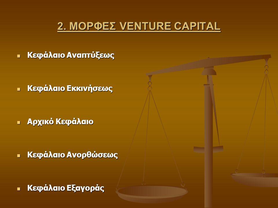 2. ΜΟΡΦΕΣ VENTURE CAPITAL