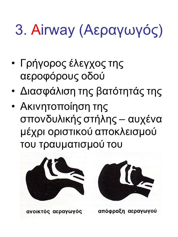 3. Airway (Αεραγωγός) Γρήγορος έλεγχος της αεροφόρους οδού