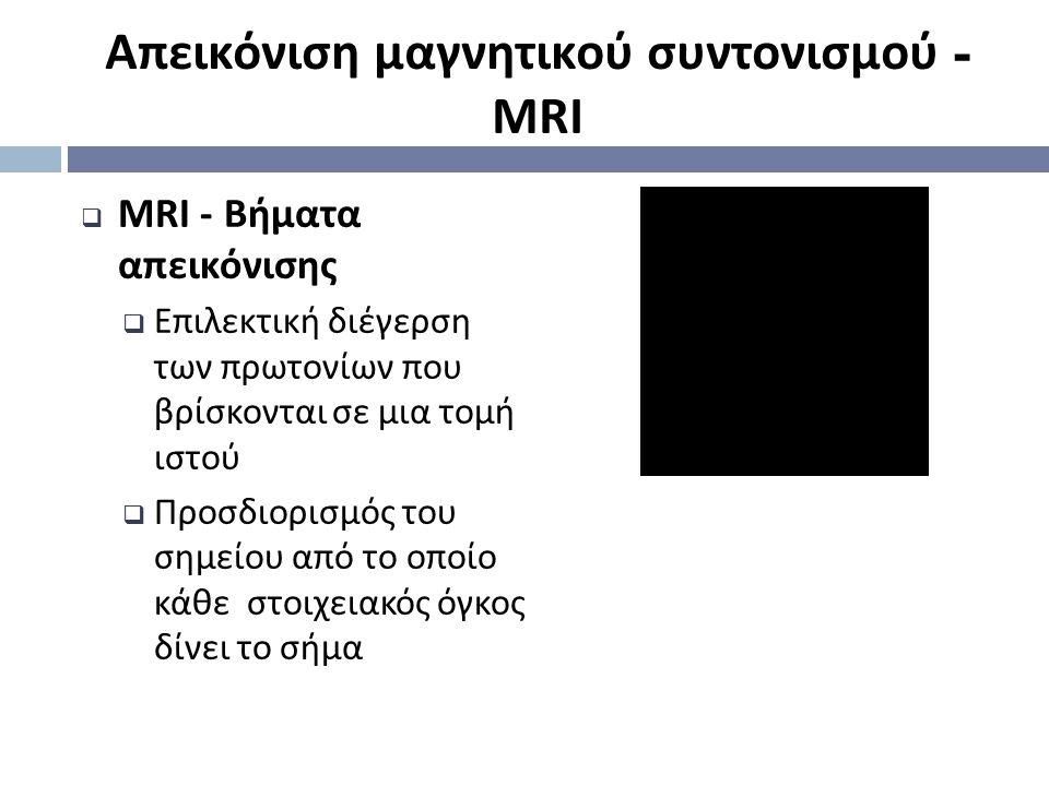 Απεικόνιση μαγνητικού συντονισμού - MRI