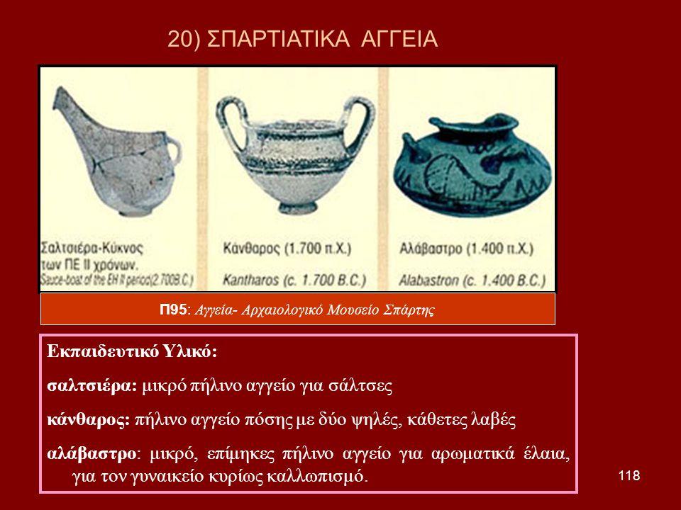 Π95: Αγγεία- Αρχαιολογικό Μουσείο Σπάρτης