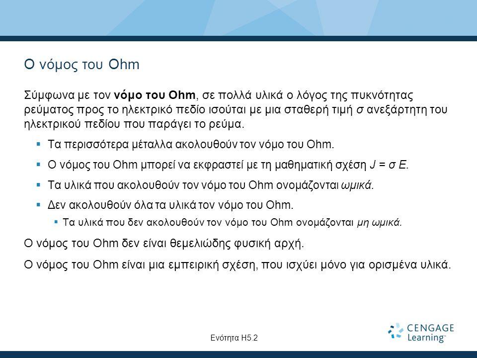 Ο νόμος του Ohm