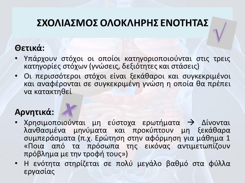 ΣΧΟΛΙΑΣΜΟΣ ΟΛΟΚΛΗΡΗΣ ΕΝΟΤΗΤΑΣ