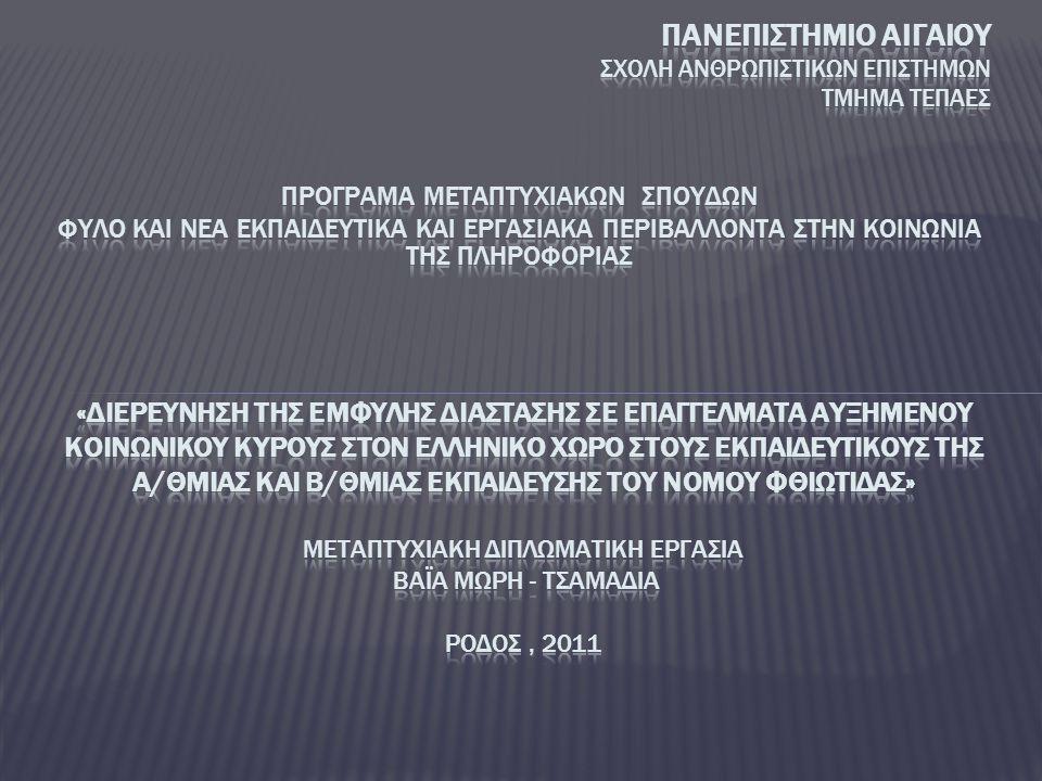 ΠΡΟΓΡΑΜΑ ΜΕΤΑΠΤΥΧΙΑΚΩΝ ΣΠΟΥΔΩΝ