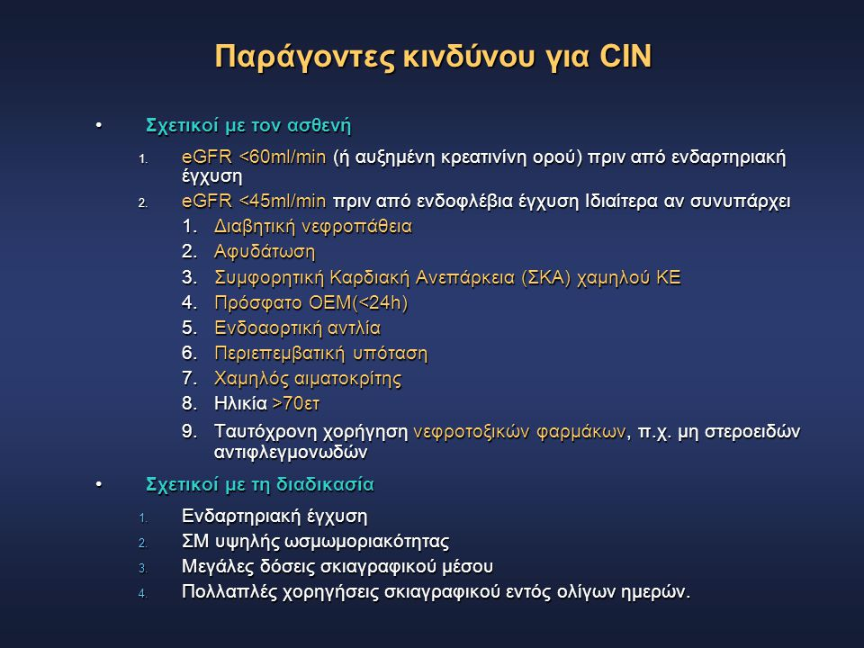 Παράγοντες κινδύνου για CIN