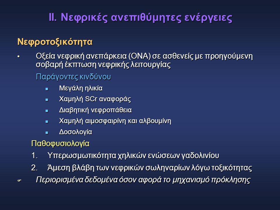 ΙΙ. Νεφρικές ανεπιθύμητες ενέργειες