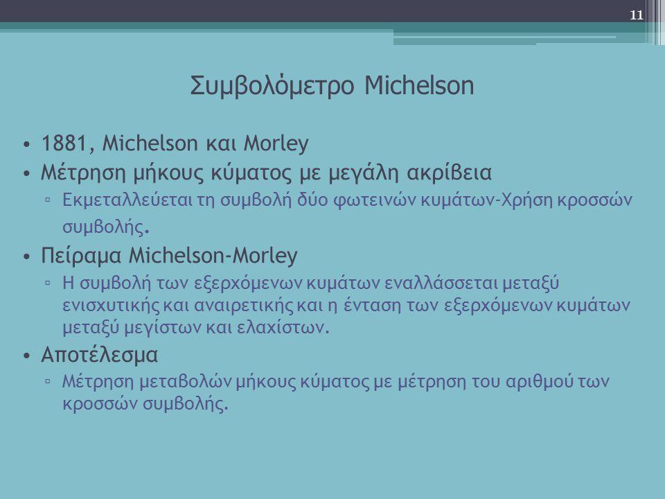 Συμβολόμετρο Michelson