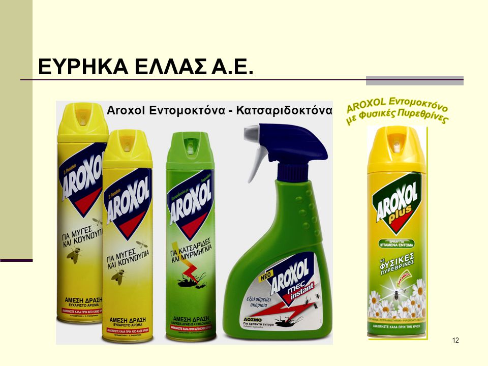 ΕΥΡΗΚΑ ΕΛΛΑΣ Α.Ε. Aroxol Εντομοκτόνα - Κατσαριδοκτόνα