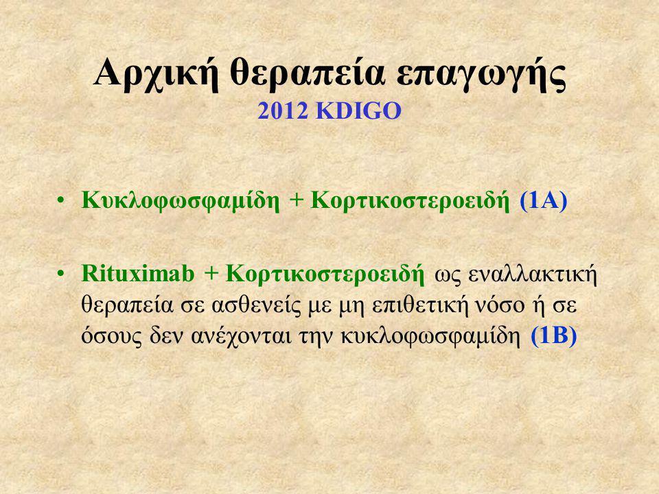 Aρχική θεραπεία επαγωγής 2012 KDIGO