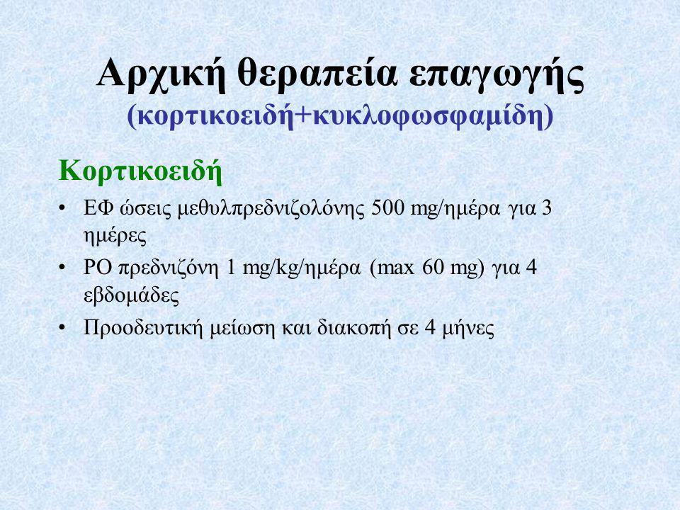 Αρχική θεραπεία επαγωγής (κορτικοειδή+κυκλοφωσφαμίδη)