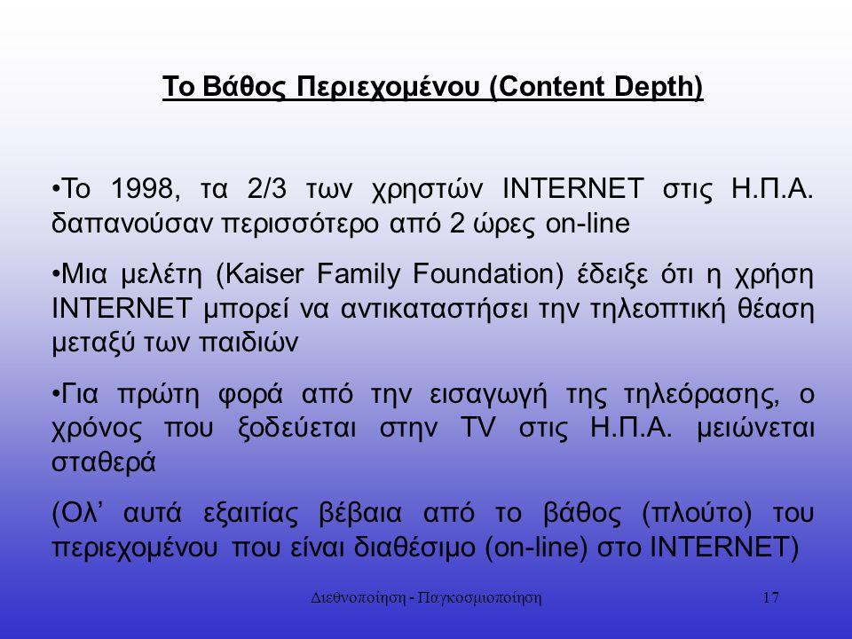 Το Βάθος Περιεχομένου (Content Depth)