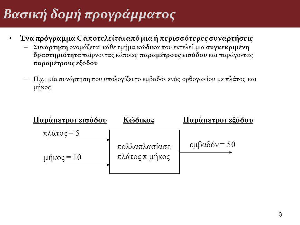 Βασική δομή προγράμματος