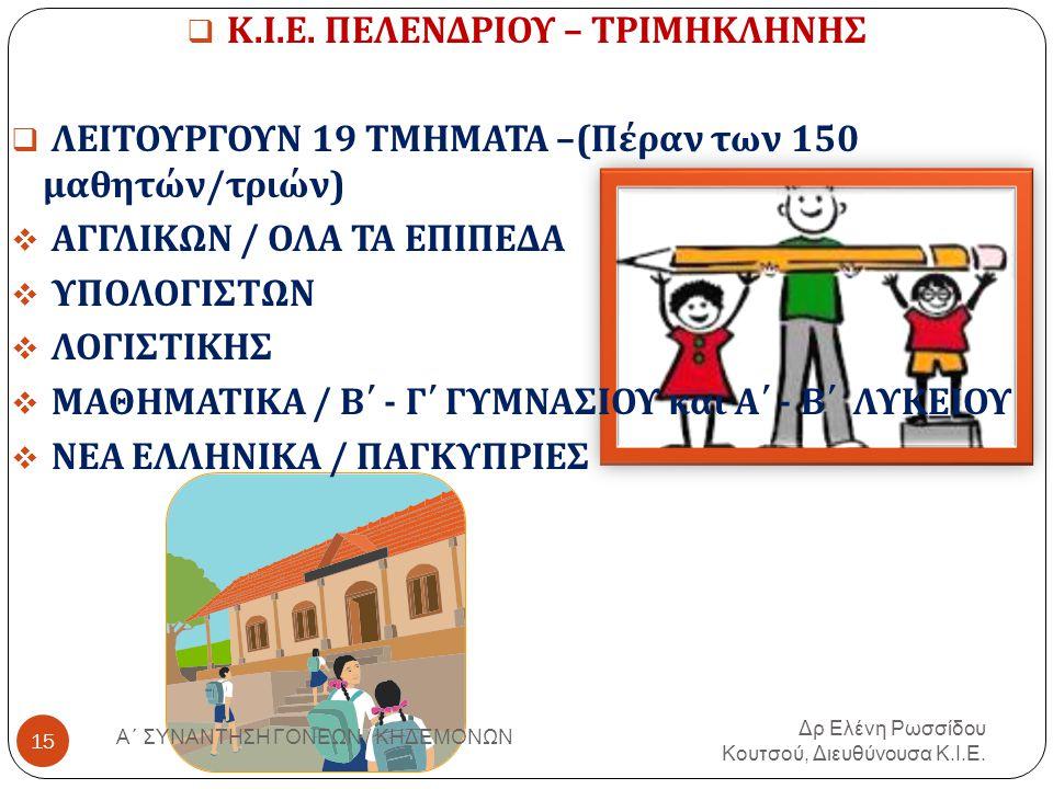 Κ.Ι.Ε. ΠΕΛΕΝΔΡΙΟΥ – ΤΡΙΜΗΚΛΗΝΗΣ