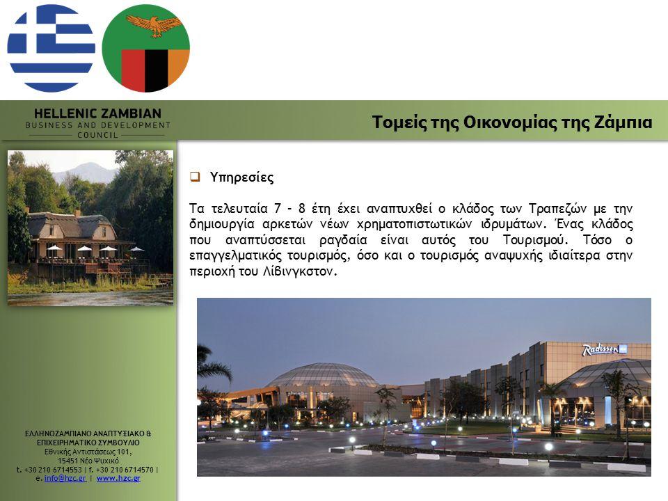 Τομείς της Οικονομίας της Ζάμπια
