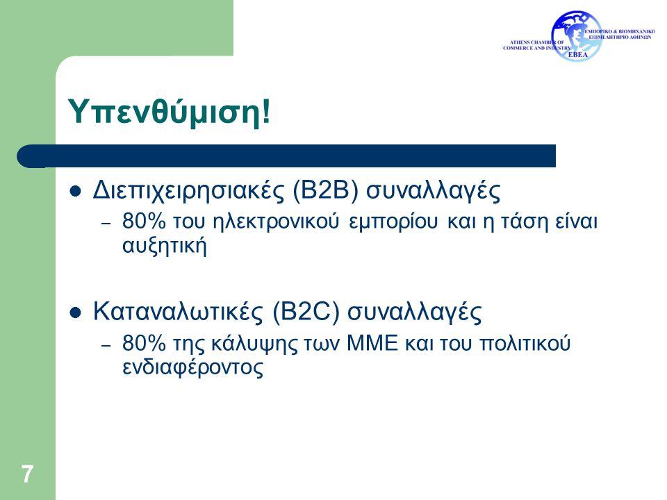 Υπενθύμιση! Διεπιχειρησιακές (B2B) συναλλαγές