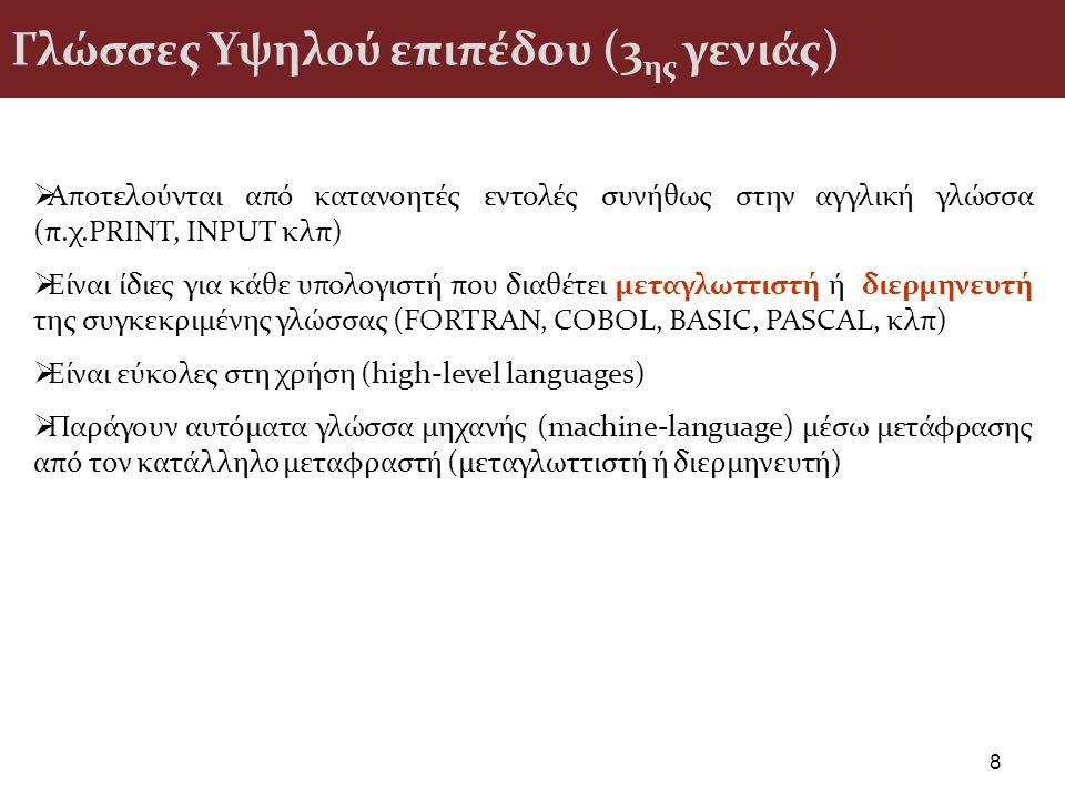 Γλώσσες Υψηλού επιπέδου (3ης γενιάς)