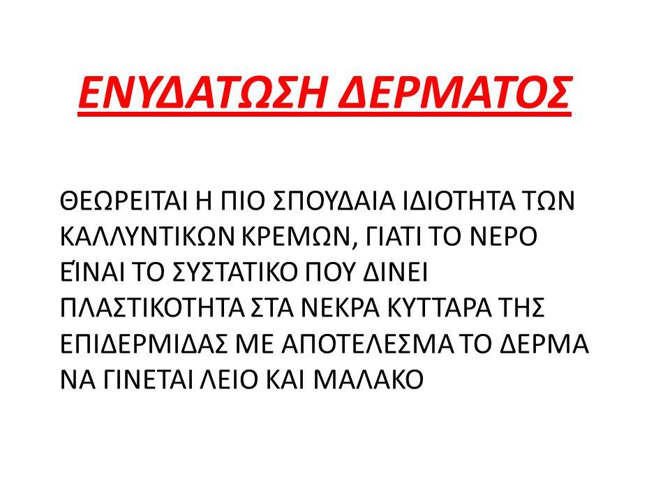ΕΝΥΔΑΤΩΣΗ ΔΕΡΜΑΤΟΣ