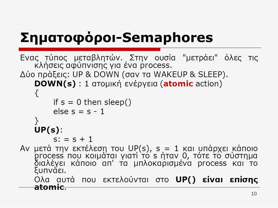 Σηματοφόροι-Semaphores