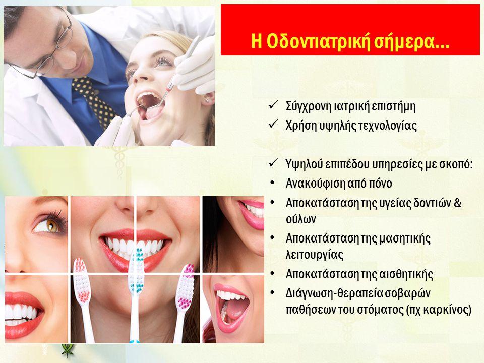 Η Οδοντιατρική σήμερα…