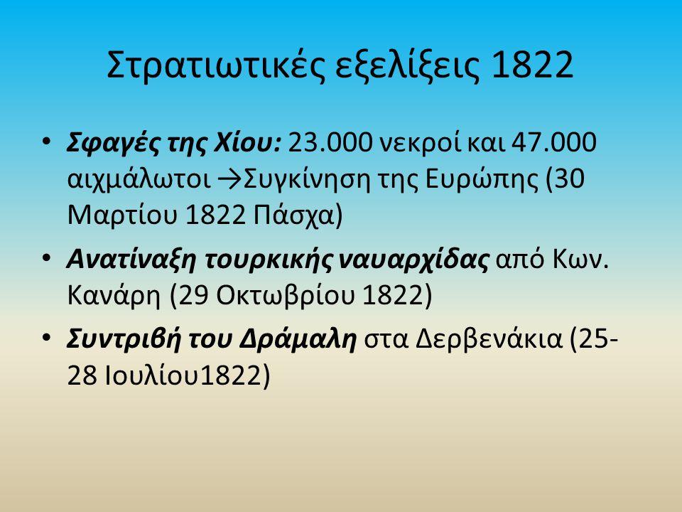 Στρατιωτικές εξελίξεις 1822