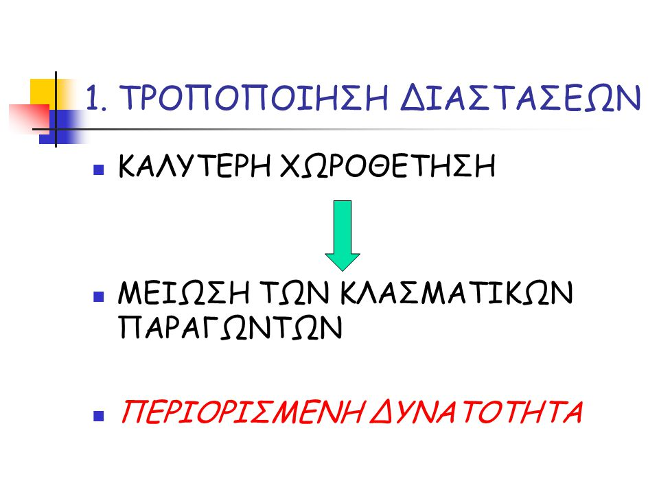 1. ΤΡΟΠΟΠΟΙΗΣΗ ΔΙΑΣΤΑΣΕΩΝ