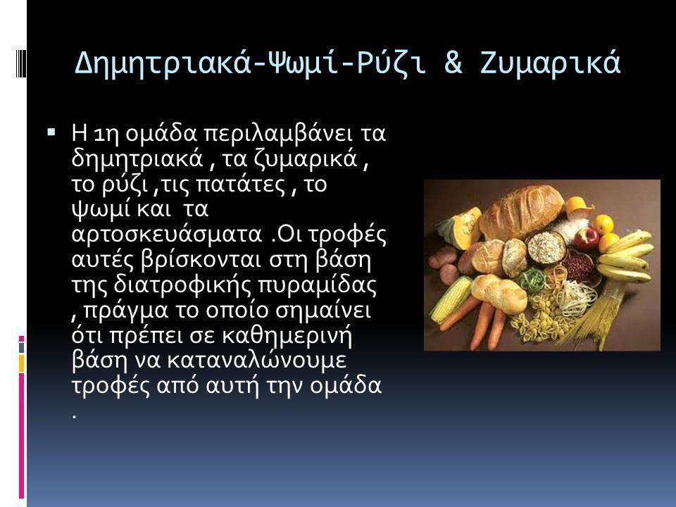 Δημητριακά-Ψωμί-Ρύζι & Ζυμαρικά