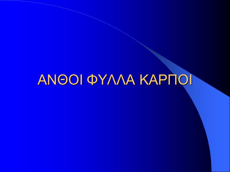 ΑΝΘΟΙ ΦΥΛΛΑ ΚΑΡΠΟΙ