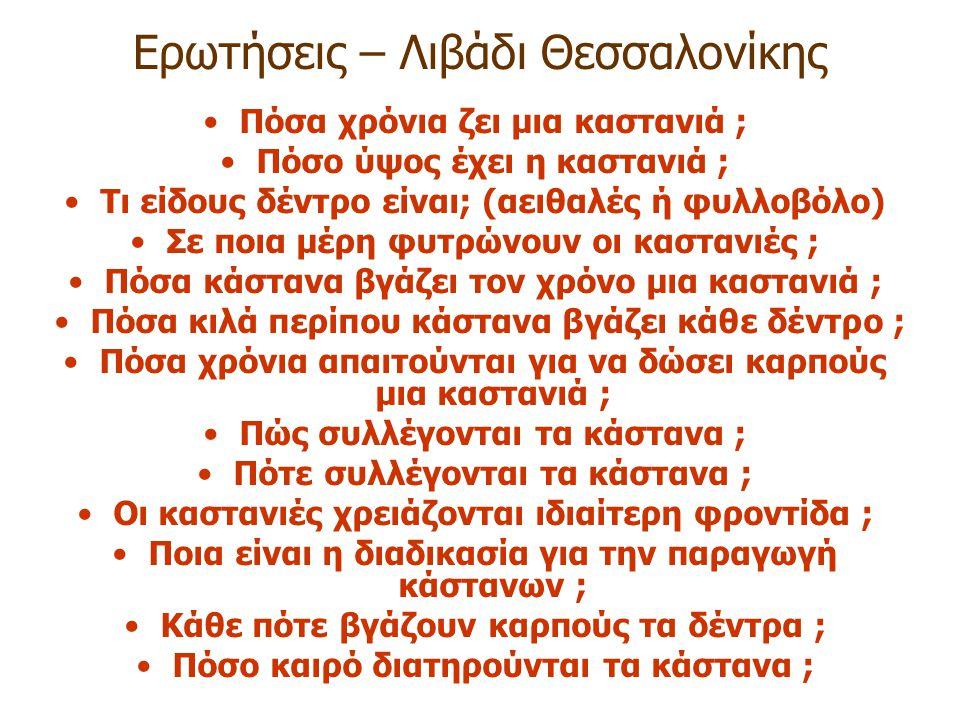 Ερωτήσεις – Λιβάδι Θεσσαλονίκης