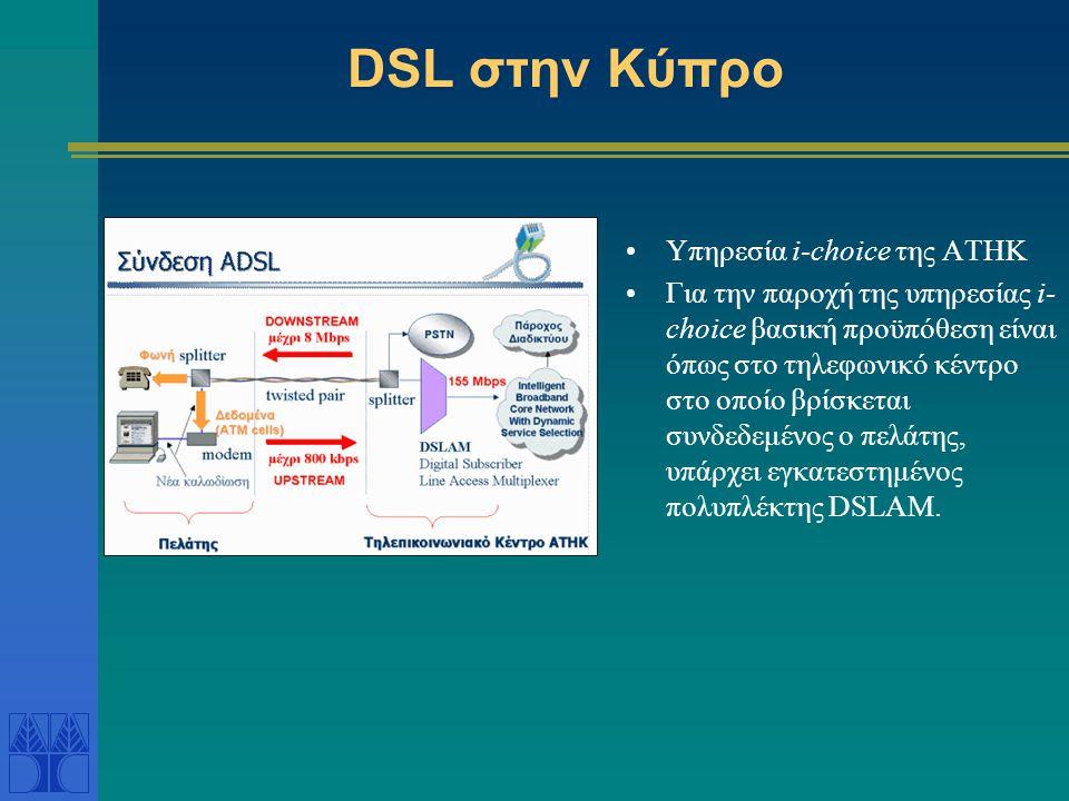 DSL στην Κύπρο Yπηρεσία i-choice της ΑΤΗΚ