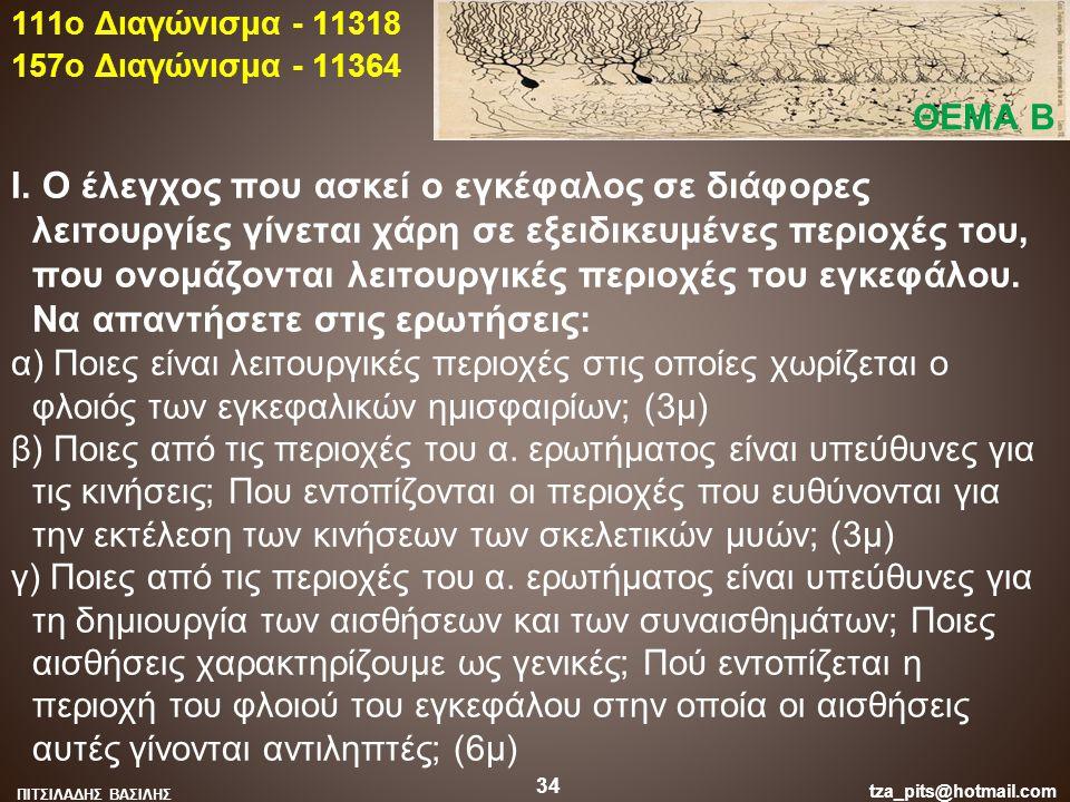 111o Διαγώνισμα - 11318 157o Διαγώνισμα - 11364. ΘΕΜΑ Β.