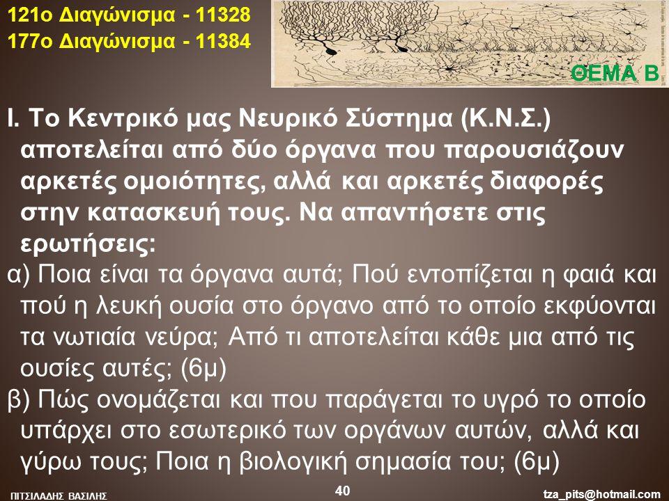 121o Διαγώνισμα - 11328 177o Διαγώνισμα - 11384. ΘΕΜΑ Β.