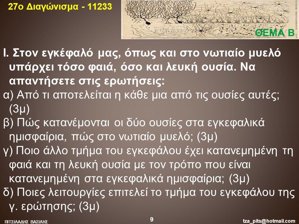 27o Διαγώνισμα - 11233 ΘΕΜΑ Β.
