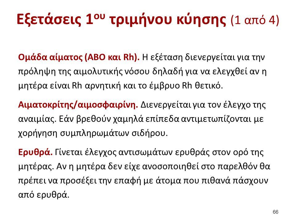 Εξετάσεις 1ου τριμήνου κύησης (2 από 4)