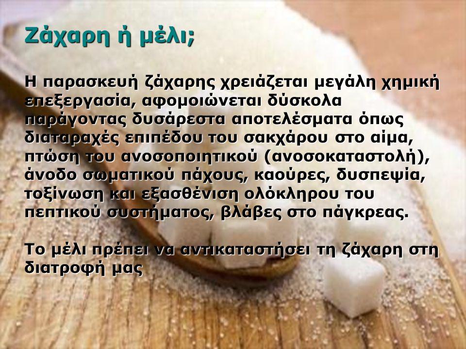 Ζάχαρη ή μέλι;