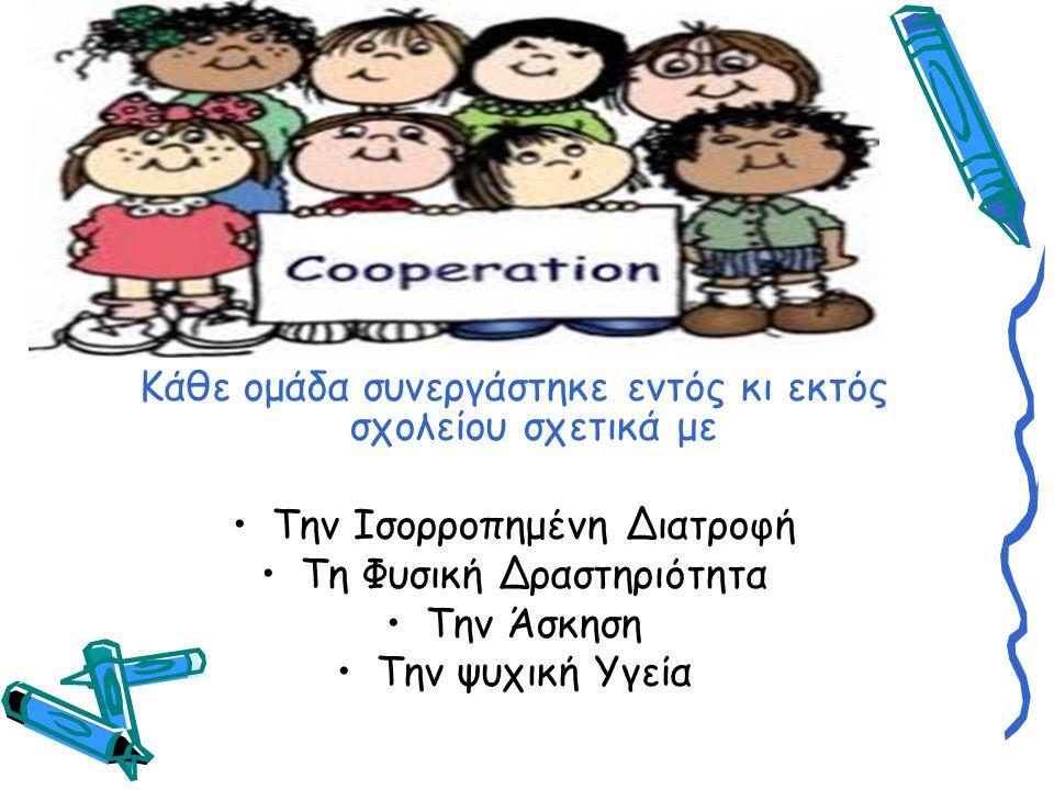 Κάθε ομάδα συνεργάστηκε εντός κι εκτός σχολείου σχετικά με