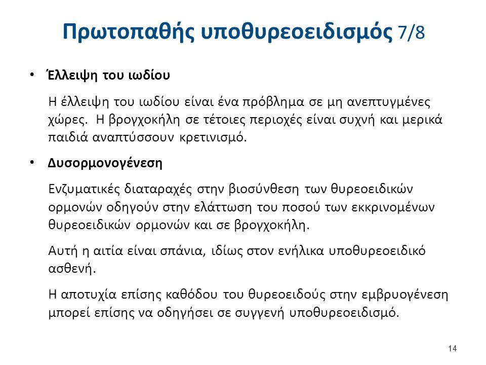 Πρωτοπαθής υποθυρεοειδισμός 8/8