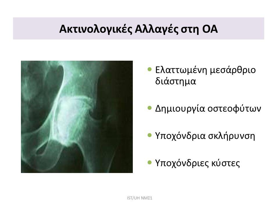 Ακτινολογικές Αλλαγές στη ΟΑ
