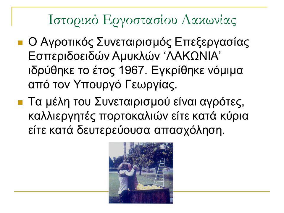 Ιστορικό Εργοστασίου Λακωνίας
