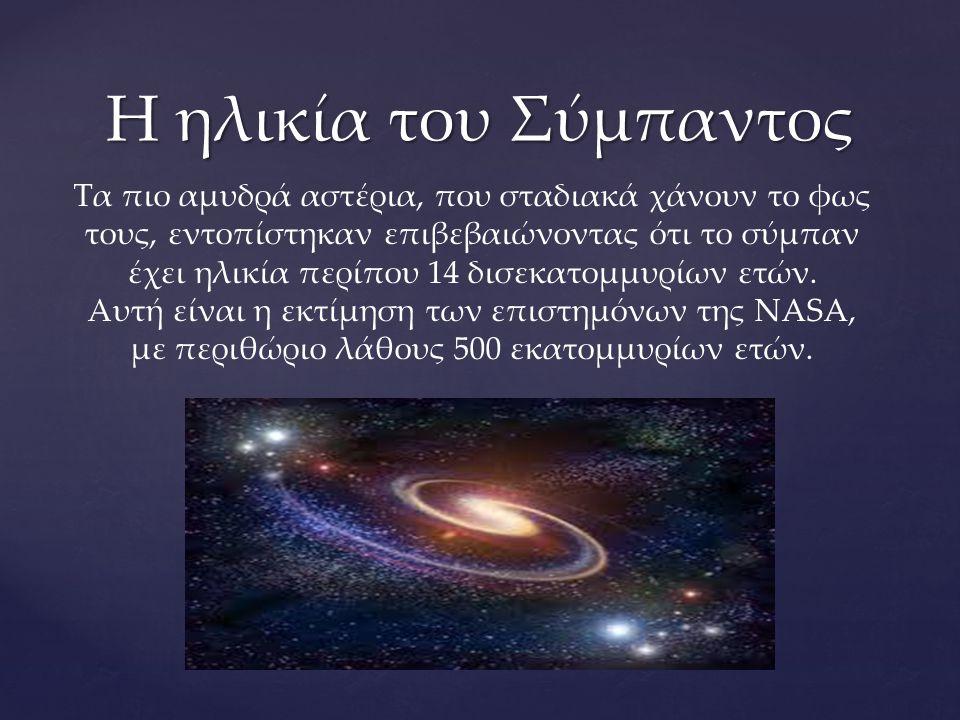 Η ηλικία του Σύμπαντος