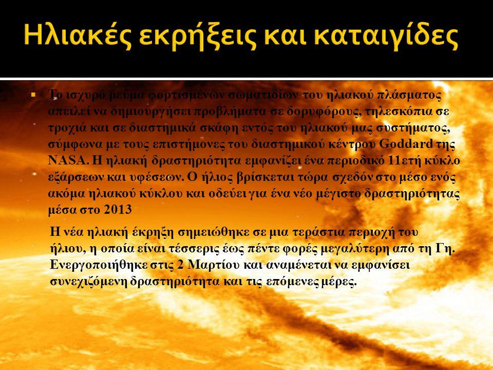 Ηλιακές εκρήξεις και καταιγίδες