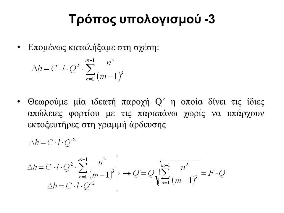 Τρόπος υπολογισμού -3 Επομένως καταλήξαμε στη σχέση: