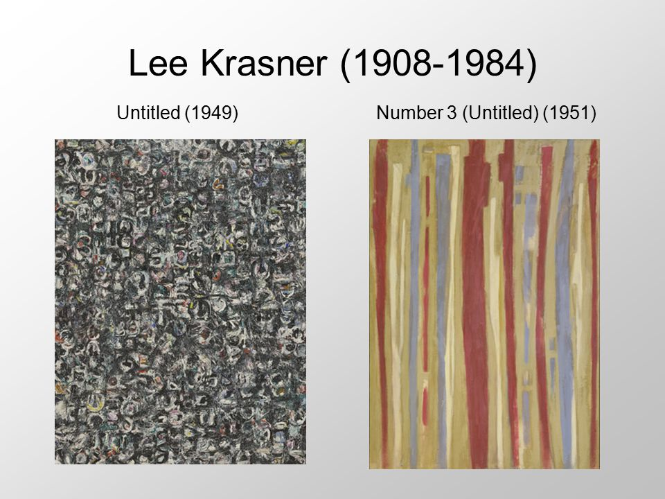 Lee Krasner (1908-1984) Untitled (1949) Number 3 (Untitled) (1951)