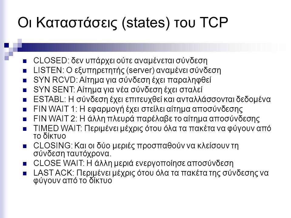 Οι Καταστάσεις (states) του TCP