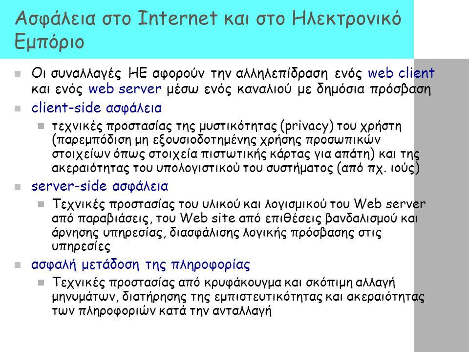 Ασφάλεια στο Internet και στο Ηλεκτρονικό Εμπόριο