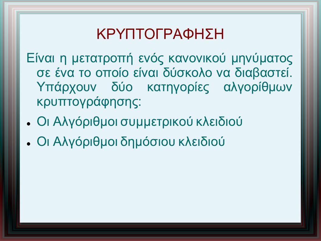 ΚΡΥΠΤΟΓΡΑΦΗΣΗ