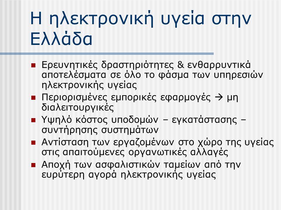 Η ηλεκτρονική υγεία στην Ελλάδα