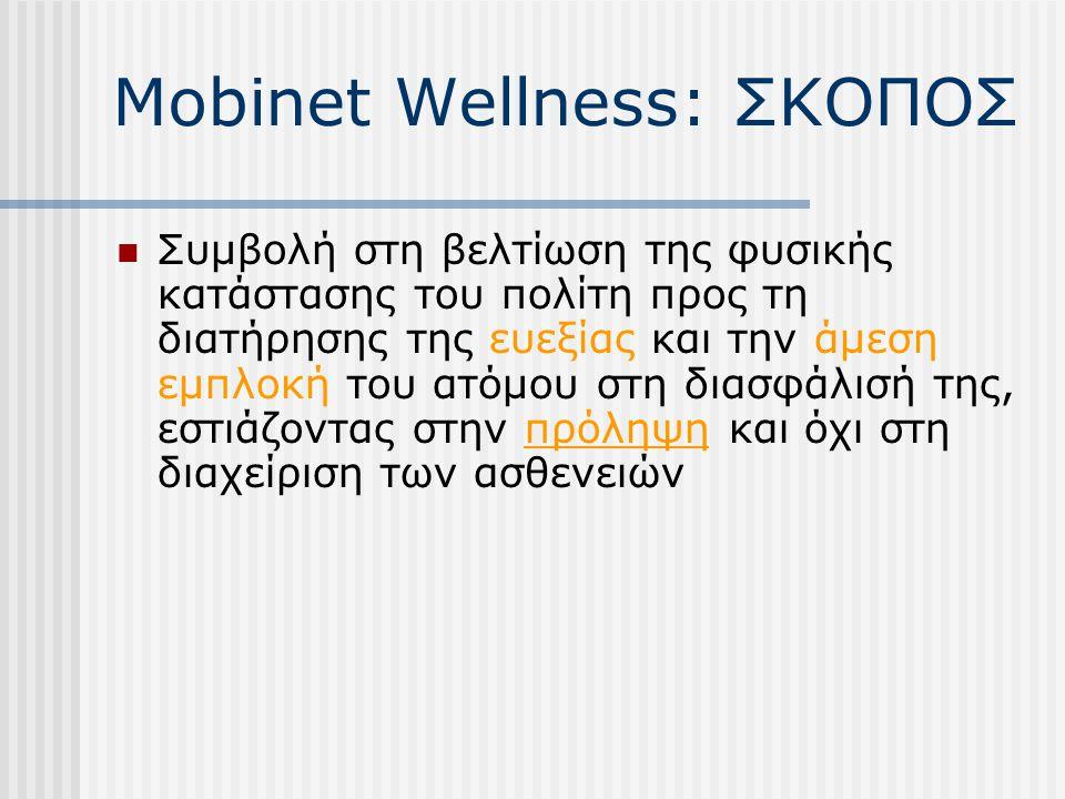 Mobinet Wellness: ΣΚΟΠΟΣ