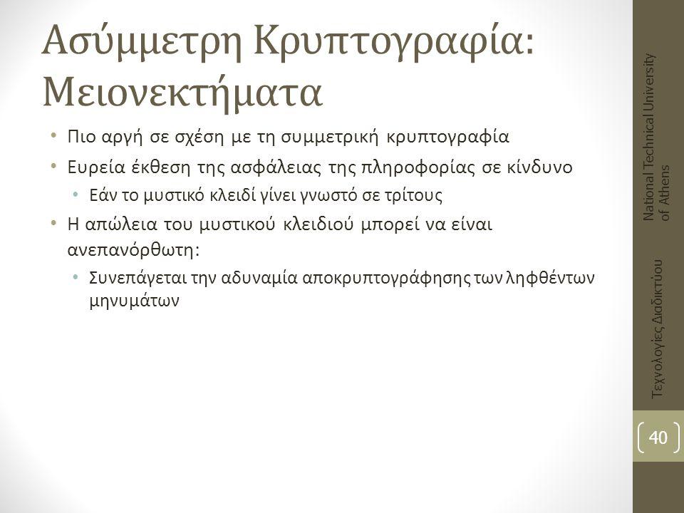 Ασύμμετρη Κρυπτογραφία: Μειονεκτήματα