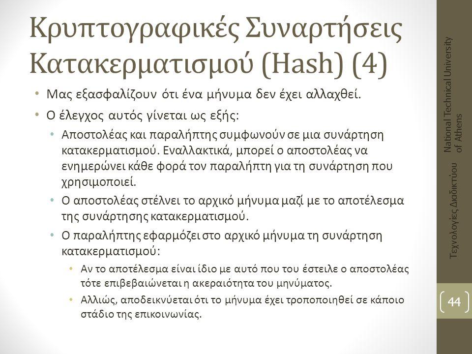 Κρυπτογραφικές Συναρτήσεις Κατακερματισμού (Hash) (4)